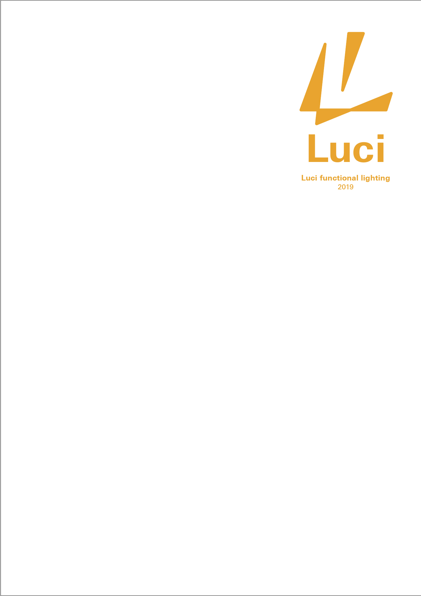 Luci functional lighting catalog